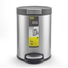 5 Litre Dustbin - @home by Nilkamal, Silver
