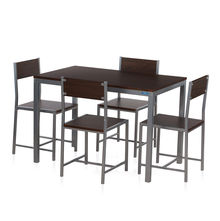 Nilkamal Wigo 1+ 4 Dining Set - Walnut