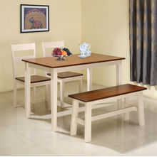 Panjin 1+ 2+ Bench Dining Kit - @home by Nilkamal, Antique Oak
