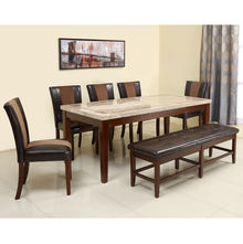 Jenn 1+ 5+ Bench Dining Set - @home by Nilkamal, Beigr & Walnut