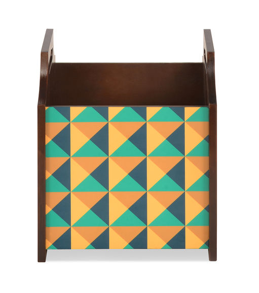 Tryst Magazine Rack - @home By Nilkamal, Brown