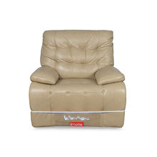 Ebony 1 Seater Sofa With Electric Recliner - @home Nilkamal,  ivory