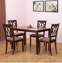Peak 4 Seater Dining Set - @home by Nilkamal, Cappucino