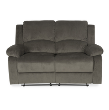 Luxury 2 Seater Sofa with 2 Manual Recliners - @home by Nilkamal, Coffee Brown