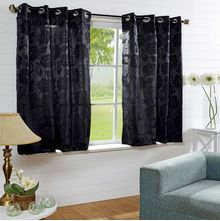 40'x60' Equinox Window Curtain - @home Nilkamal,  black