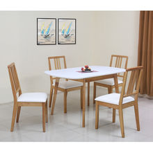 Mainland 4 Seater Dining Kit - @home by Nilkamal, Light Oak