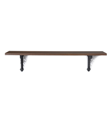 Opera & Fern Medium Wall Shelf - @home by Nilkamal, Mahogany