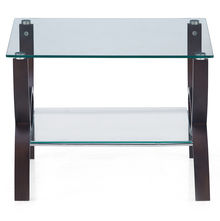 Spring Side Table With Glass Top - @home by Nilkamal, Wenge