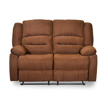 Quinn 2 Seater Sofa with 2 Manual Recliners - @home by Nilkamal, Sand Brown