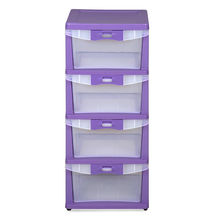 Chester 24 Chest Of 4 Drawer - @home Nilkamal,  purple