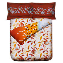 Spring Double Comforter - @home Nilkamal,  orange