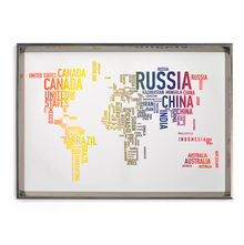 World Map Picture Painting 50 x 70 - @home By Nilkamal, Multicolor
