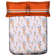 Floral Double Bed Sheet - @home Nilkamal,  orange