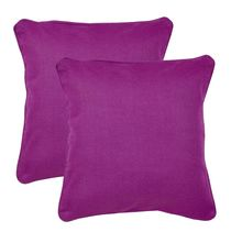 16'x16' Royal Set of 2 Cushion Covers - @home Nilkamal,  green