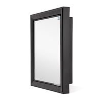 Gem Mirror Cabinet - @home by Nilkamal,  black