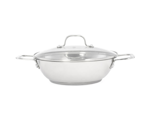 Bergner Induction Kadai with Glass Lid