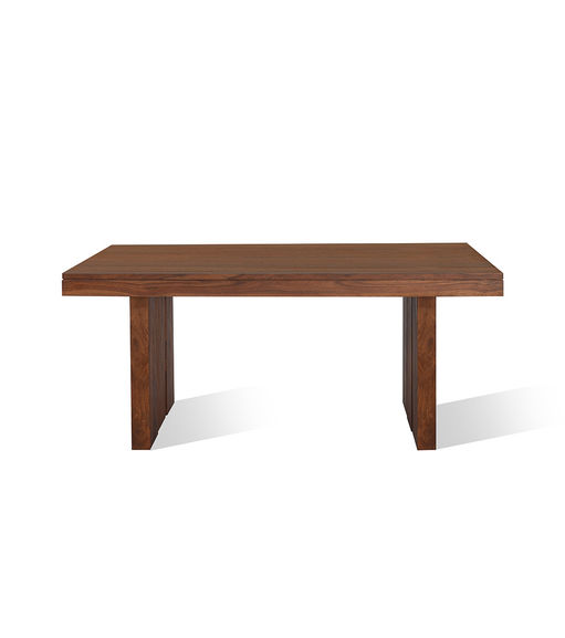 Delmonte Dining Table 6 Seater - @home Nilkamal,  walnut