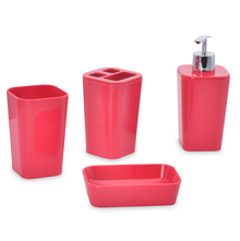 Gradation Bathroom Accessory Set - @home by Nilkamal, Pink