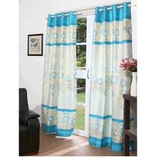 112'x213' Marvel Door Curtain Set of 2 - @home By Nilkamal, Teal