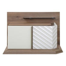 Elisa Left Night Stand - @home by Nilkamal, Walnut & White