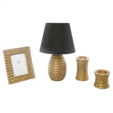 Allure combo of Table Lamp, Photo Frame & Votive -@home By Nilkamal