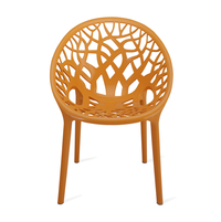 Nilkamal Crystal PP Chair,  orange