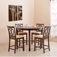 Lauren 4 Seater Dining Kit - @home Nilkamal,  brown