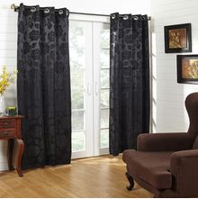 46'x84' Equinox Door Curtain - @home Nilkamal,  black
