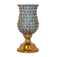 Hurricane Homely Crytsal Candle Stand - @home by Nilkamal, Indigo