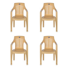 Nilkamal CHR6020 Chair Set of 4 - Marble Beige