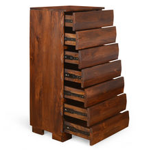 Waves 7-Chest Of Drawers - @home Nilkamal,  walnut