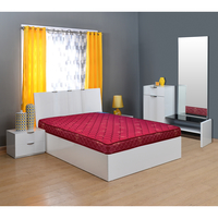 Flora 6 Bonnell Spring Mattress - @home By Nilkamal, 75x48x6,  maroon