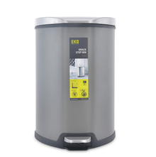 Grace 9 Litre Step Dustbin - @home by Nilkamal, Grey