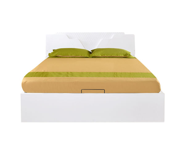 Capital King Bed - @home By Nilkamal, Glossy White