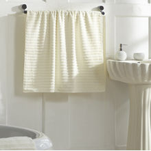Ribbed Bath Towel - @home Nilkamal,  cream