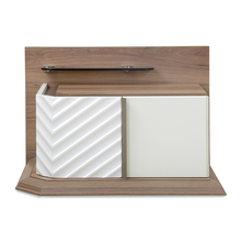 Elisa Right Night Stand - @home by Nilkamal, Walnut & White