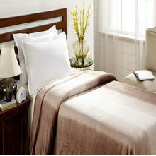 Flannel Single Blanket - @home Nilkamal,  beige