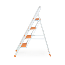 Nilkamal Delta 4 Step Ladder, White/Orange
