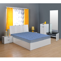 Vivah 6 Bonnell Spring Mattress - @home By Nilkamal, Grey Blue, 72x48x6