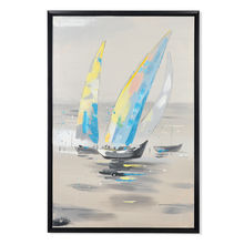 Sails Autumn Picture Painting 60 x 90 - @home By Nilkamal, Blue & Peach