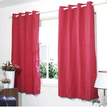 "Moshi 45"" x 60"" Window Curtain Set of 2 - @home by Nilkamal, Fushcia"