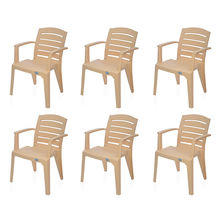 Nilkamal Passion Garden Chair Set of 6 - Biscuit
