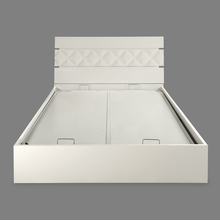 Margery Queen Bed with Storage - @home by Nilkamal, White