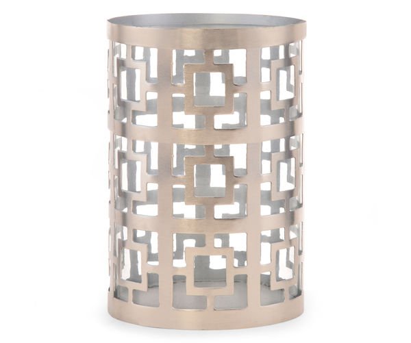 Maze Small 4 x 6 Inch Candle Holder - @home By Nilkamal, Silver