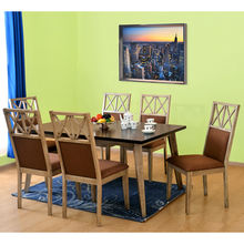 Falcon 6 Seater Dining Set - @home by Nilkamal, Pastel Brown