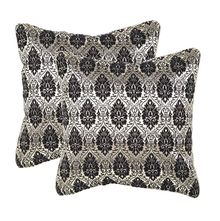 12'x12' Glory Set Of 2 Cushion Covers - @home Nilkamal,  black