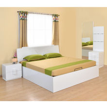 Capital Queen Bedroom Set - @home by Nilkamal, Glossy White