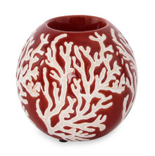 Earthy Wine Small Candle Holder - @home by Nilkamal, Maroon