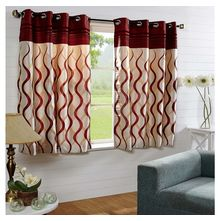 44'x60' Nautical Window Curtain - @home Nilkamal,  red