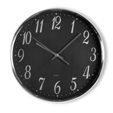 Simplistic Wall Clock - @home by Nilkamal, Black